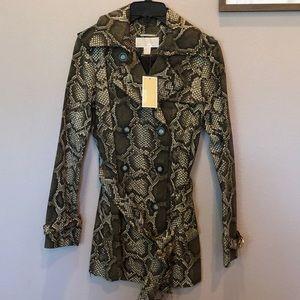 NWT Michael Kors Snakeskin Pea Coat